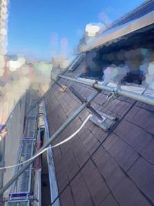 中塗り完了時の屋根